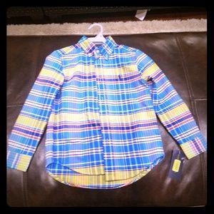 Boys Ralph Lauren button down plaid shirt size 6